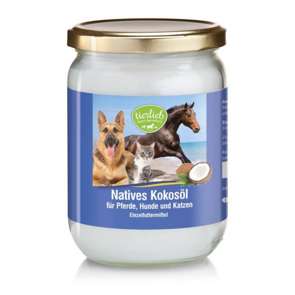 tierlieb Szűz, hidegen sajtolt kókuszolaj lovaknak, kutyáknak macskáknak 500 ml