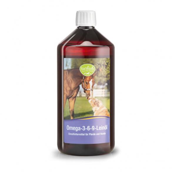 tierlieb Omega-3-6-9 Lenmagolaj lovaknak, kutyáknak 1000 ml
