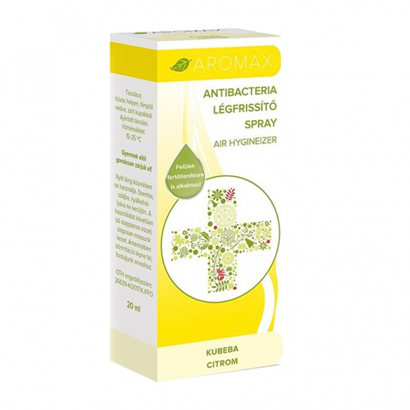 AROMAX ANTIBACTERIA Kubeba-Citrom spray 20 ml