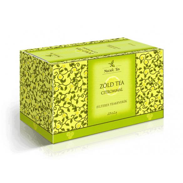 MECSEK Zöld tea citrommal filteres