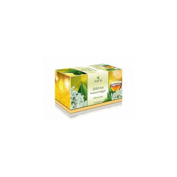 MECSEK Zöld tea bodzavirággal filteres