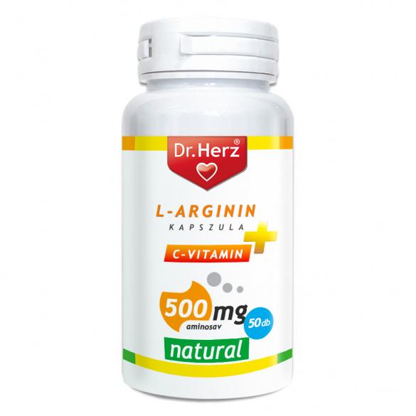 DR Herz L-Arginin+C-vitamin 500 mg kapszula 50 db