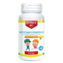 DR Herz Multivitamin Gyerekeknek+D3 60db rágótabletta