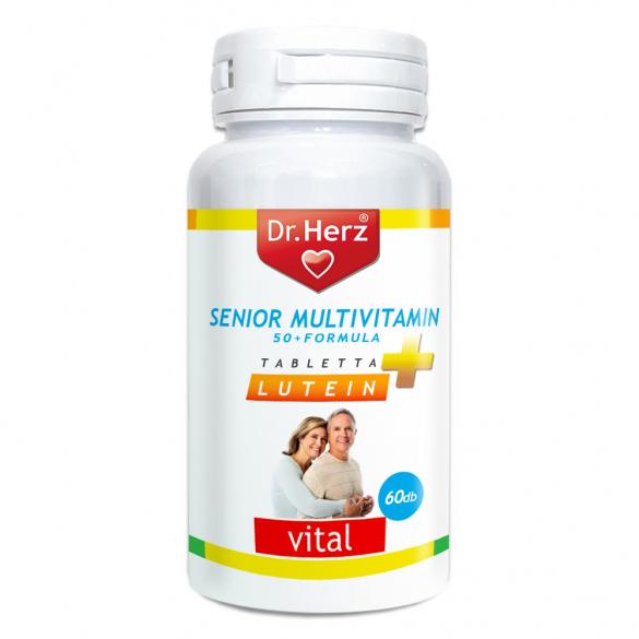 DR Herz Senior Multivitamin 50+ Lutein 60db tabletta