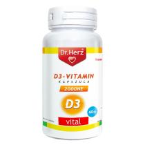 DR Herz D-vitamin 2000 NE 60 db lágykapszula speciális gyógyászati célra szánt tápszer