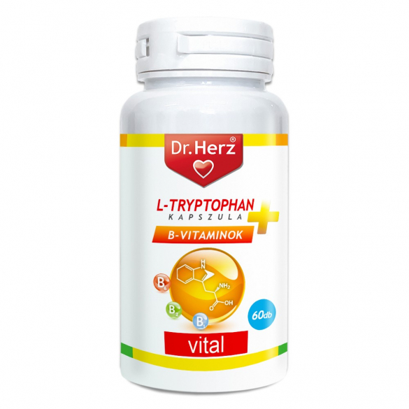 DR Herz L-Tryptophan + B-vitaminok 60 db kapszula