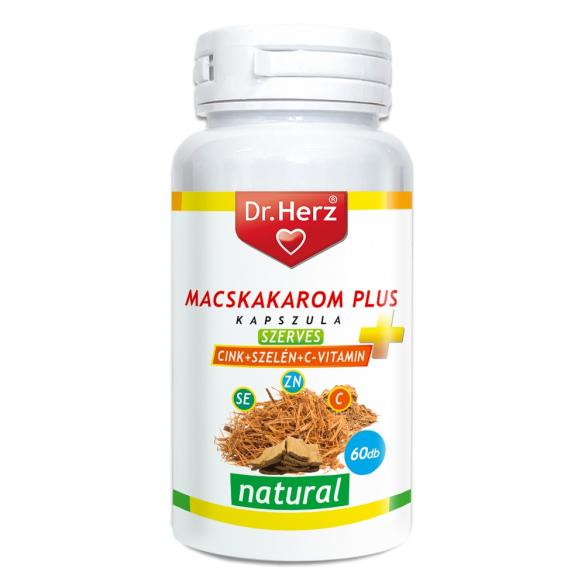 DR Herz Macskakarom+Szerves Cink+Szelén+C vitamin 60db kapszula