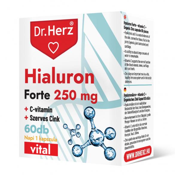 DR Herz Hialuron Forte 250 mg 60 db kapszula  doboz