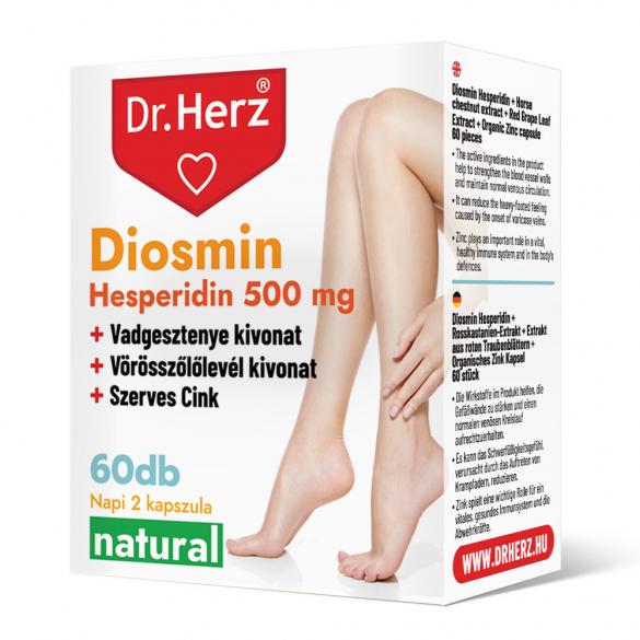 DR Herz Diosmin Hesperidin 500 mg 60 db kapszula doboz