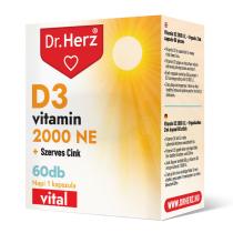 DR Herz D3-vitamin 2000 NE+Szerves Cink 60 db kapszula doboz