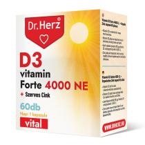 DR Herz D3-vitamin 4000 NE+Szerves Cink 60 db kapszula doboz