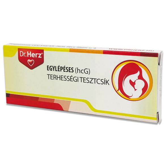 DR Herz Egylépéses(10 mIU/ml hcG) terhességi tesztcsík /EP kártyára adható/