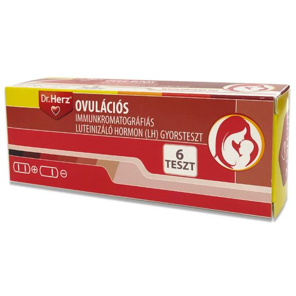 DR Herz Ovulációs immunkromatográfiás(LH) gyorsteszt 6 db /EP kártyára adható/
