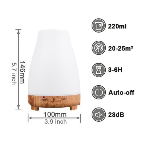 Aroma diffúzor + LED 120ml A023