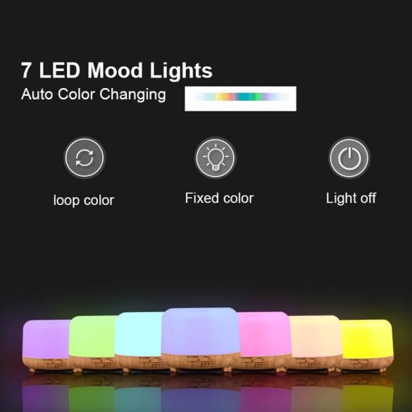 Aroma diffúzor + LED 300ml A020