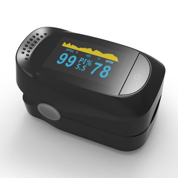 Professzionális véroxigénmérő és pulzusmérő OLED kijelzővel Pulzoximéter SpO2