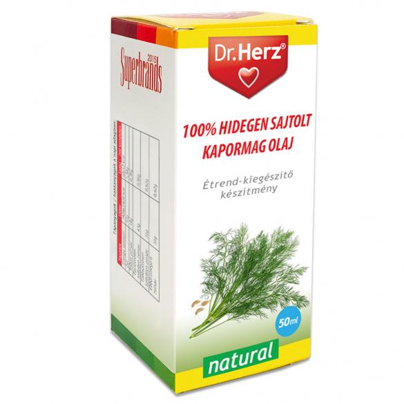 DR Herz Kapormag olaj 100% hidegen sajtolt 50ml