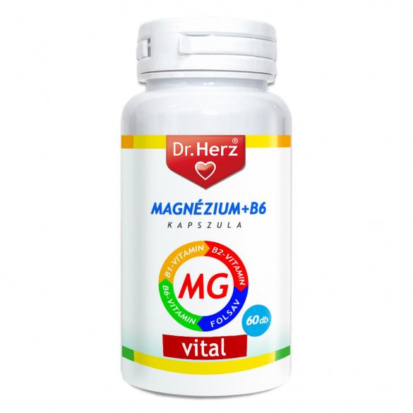 DR Herz Magnézium+B6 60 db kapszula