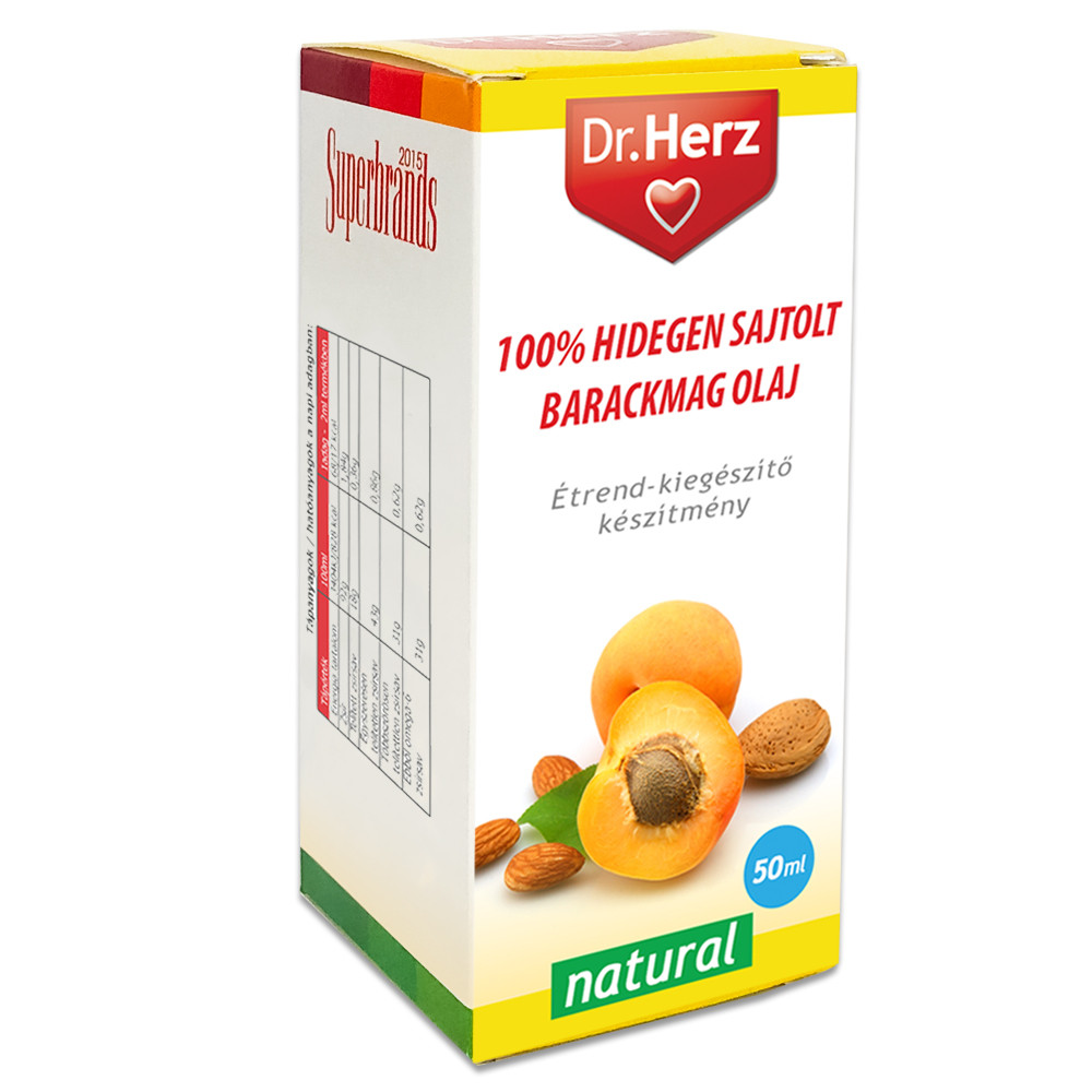DR Herz Barackmag olaj 100% hidegen sajtolt 50ml - Vitaminna