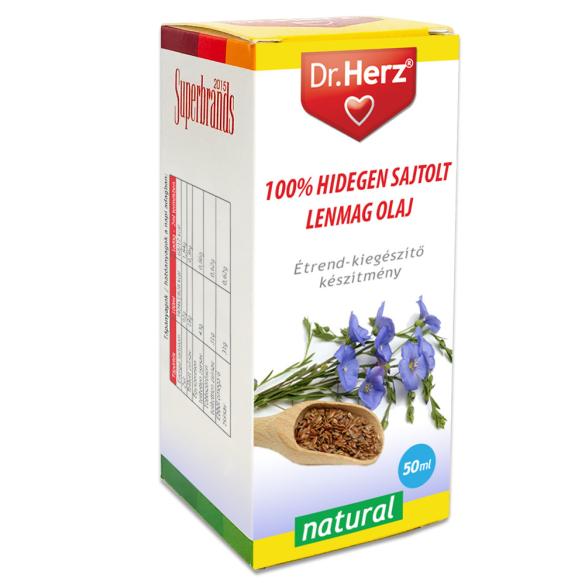 DR Herz Lenmag olaj 100% hidegen sajtolt 50ml