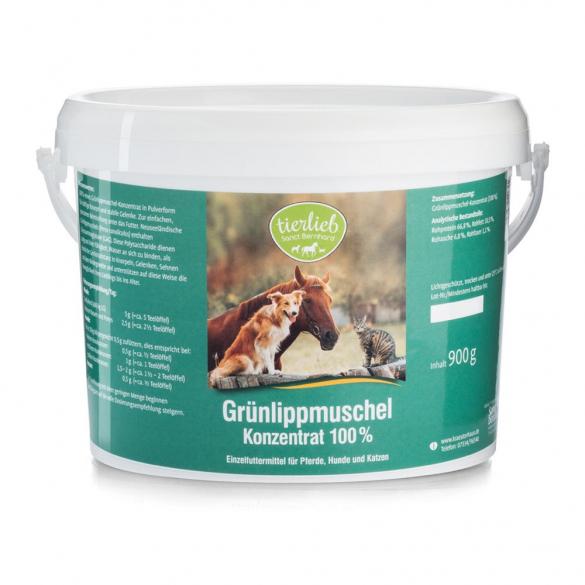 tierlieb Zöldkagyló koncentrátum lovaknak, kutyáknak, macskáknak 900 g